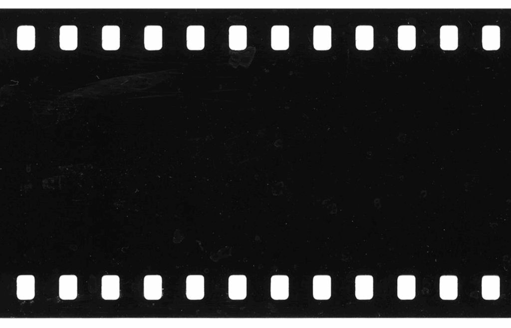 Film that came out black when developed.