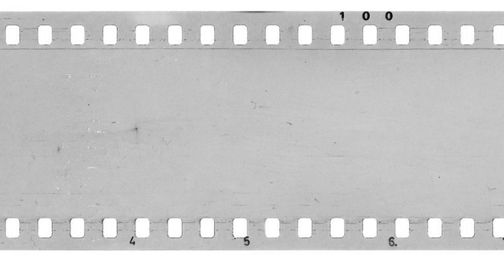 Clear film with numbers on the edge.
