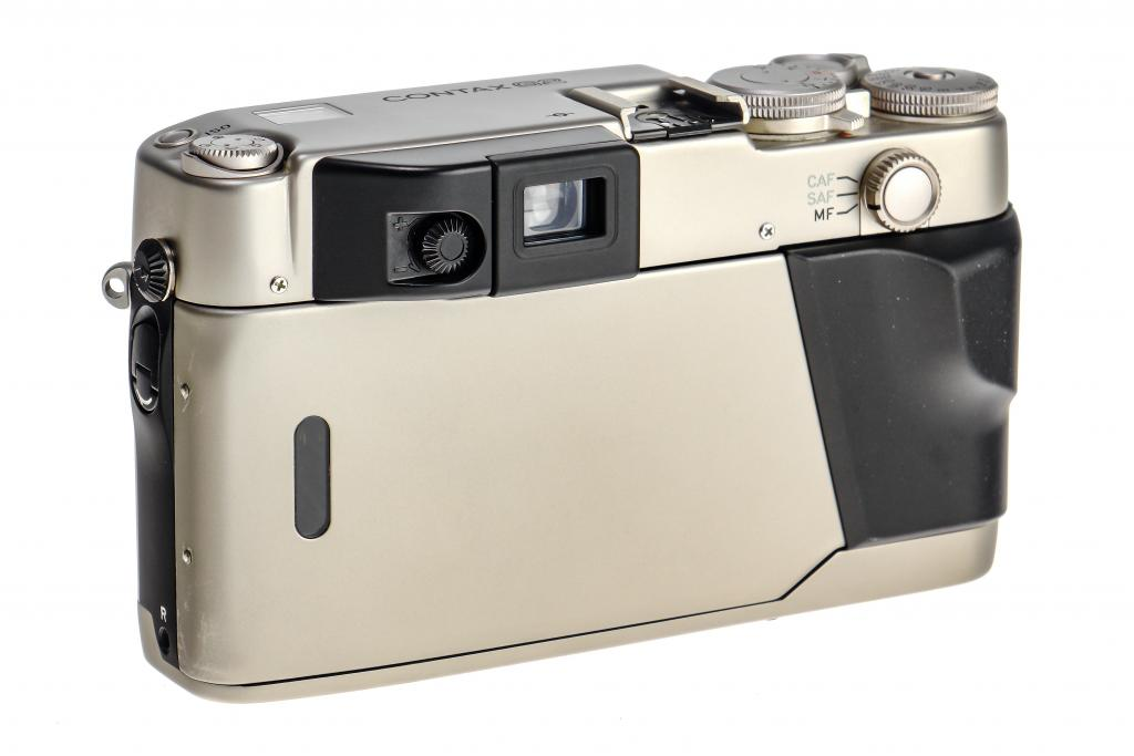 The Back of a Contax G2 35mm Film Camera.