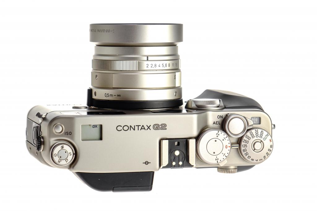 Top Plate of A Contax G2 35mm Film Camera.