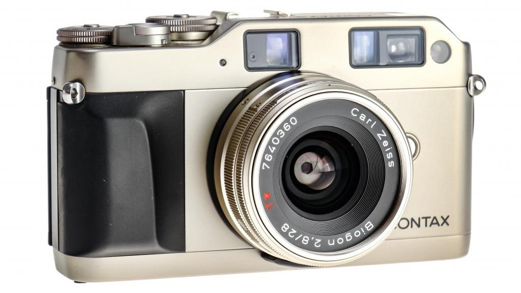Front of A Contax G1 35mm Film Camera.