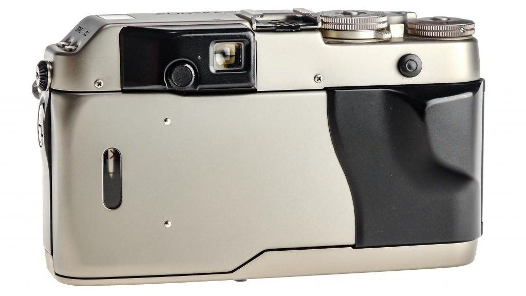 Back of a Contax G1 35mm Film Camera.