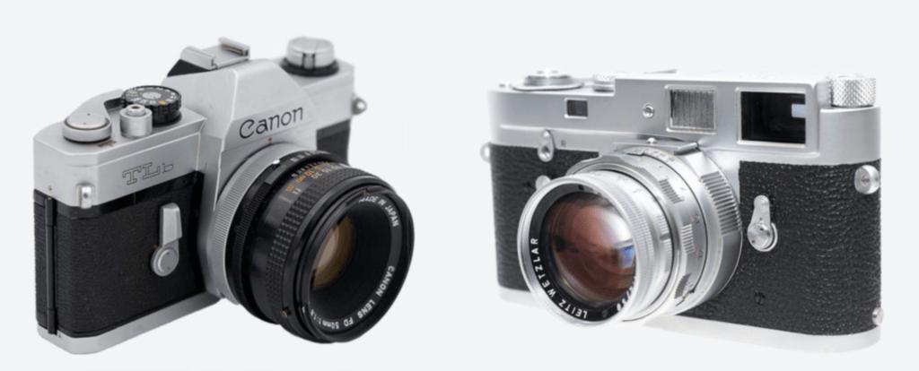 Rangefinder vs SLR 35mm film cameras