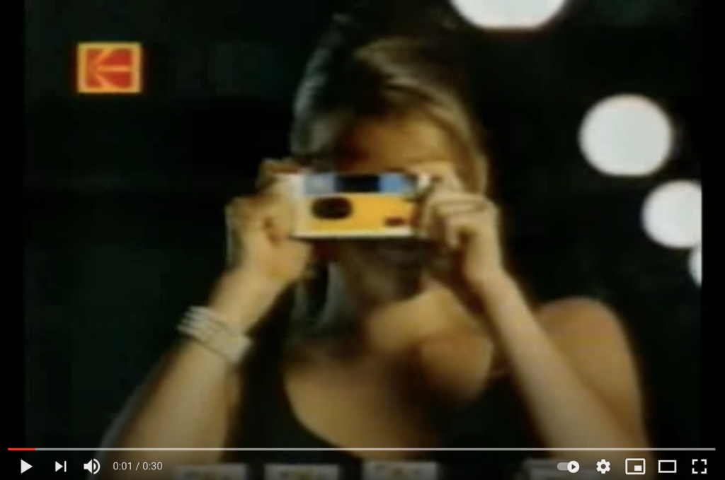 Image of A Kodak Disposable Camera Video on Youtube