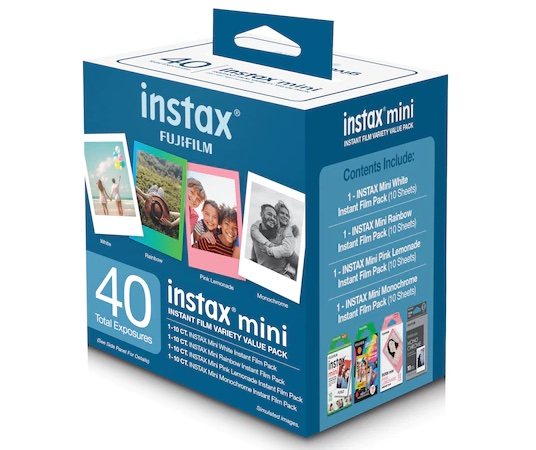 Instax Mini Film 4 Style Variety Pack from Fujifilm